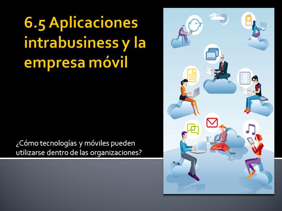 6.5 Aplicaciones intrabusiness y la empresa móvil