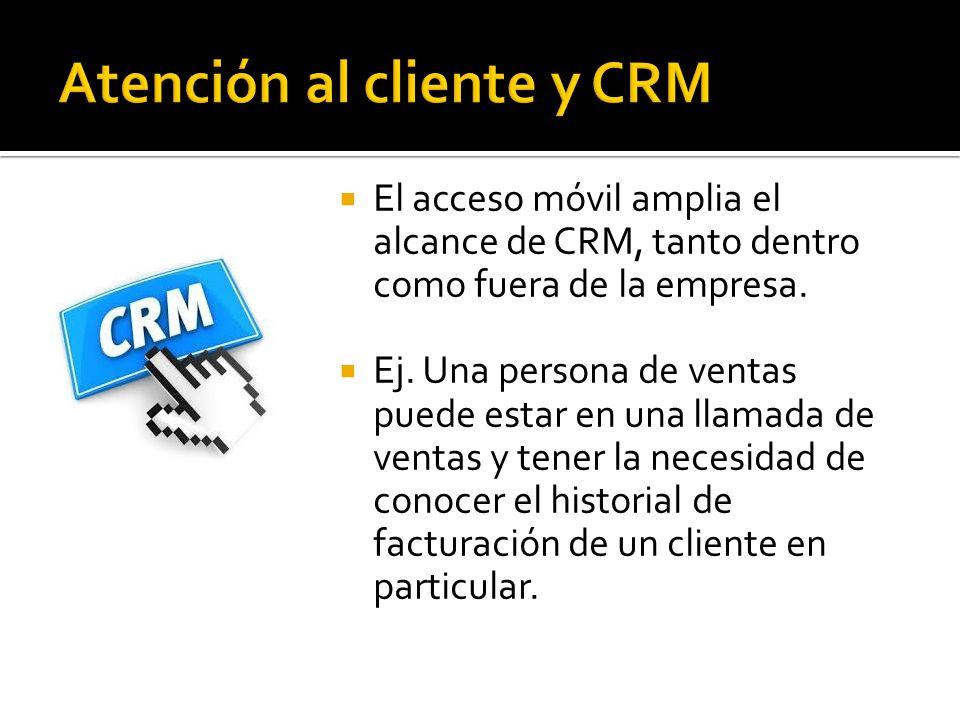 Atención al cliente y CRM