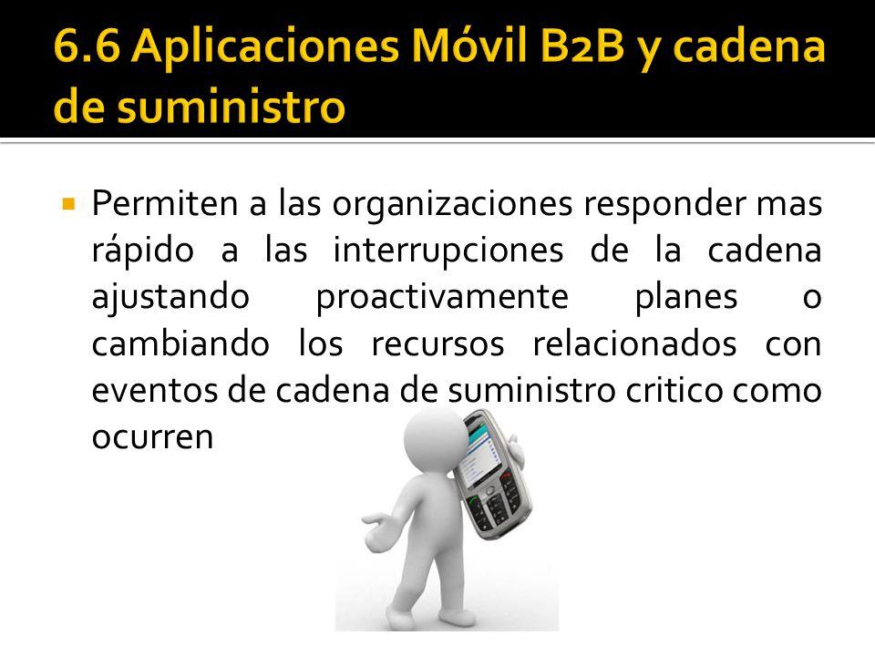 6.6 Aplicaciones Móvil B2B y cadena de suministro