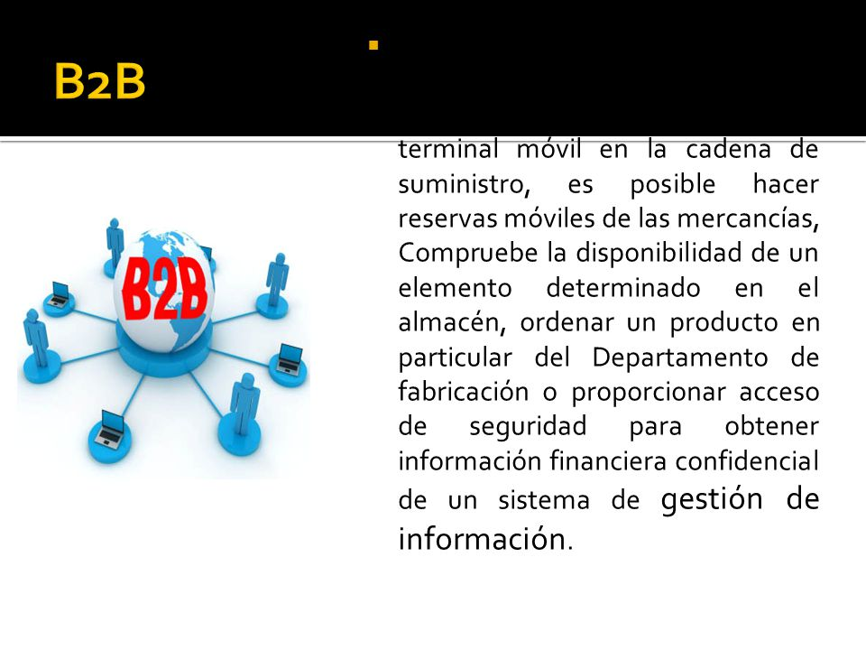 Sistema de mensajería integrado en el centro de B2B Communications