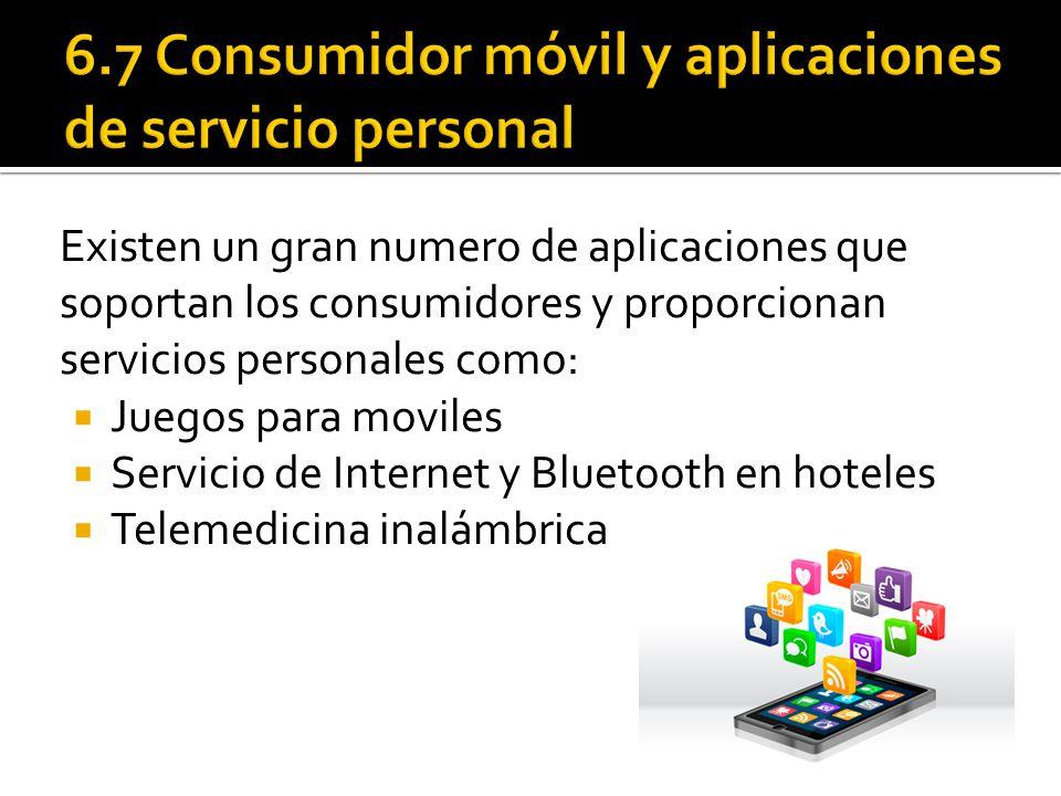 6.7 Consumidor móvil y aplicaciones de servicio personal