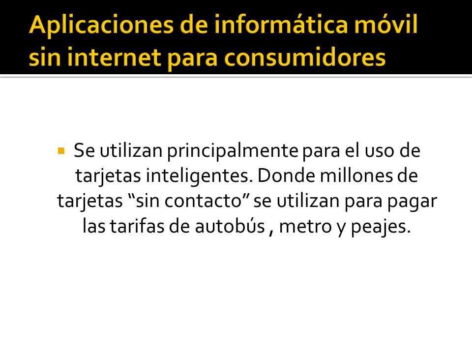 Aplicaciones de informática móvil sin internet para consumidores