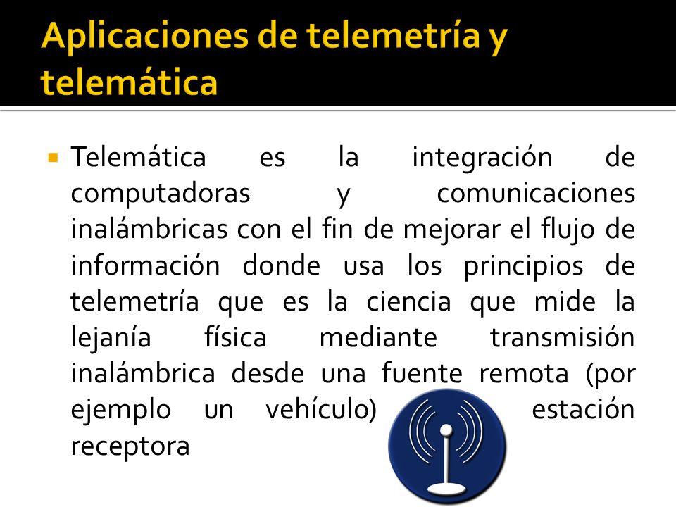 Aplicaciones de telemetría y telemática