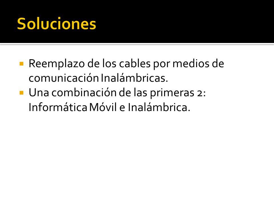 Soluciones Reemplazo de los cables por medios de comunicación Inalámbricas.
