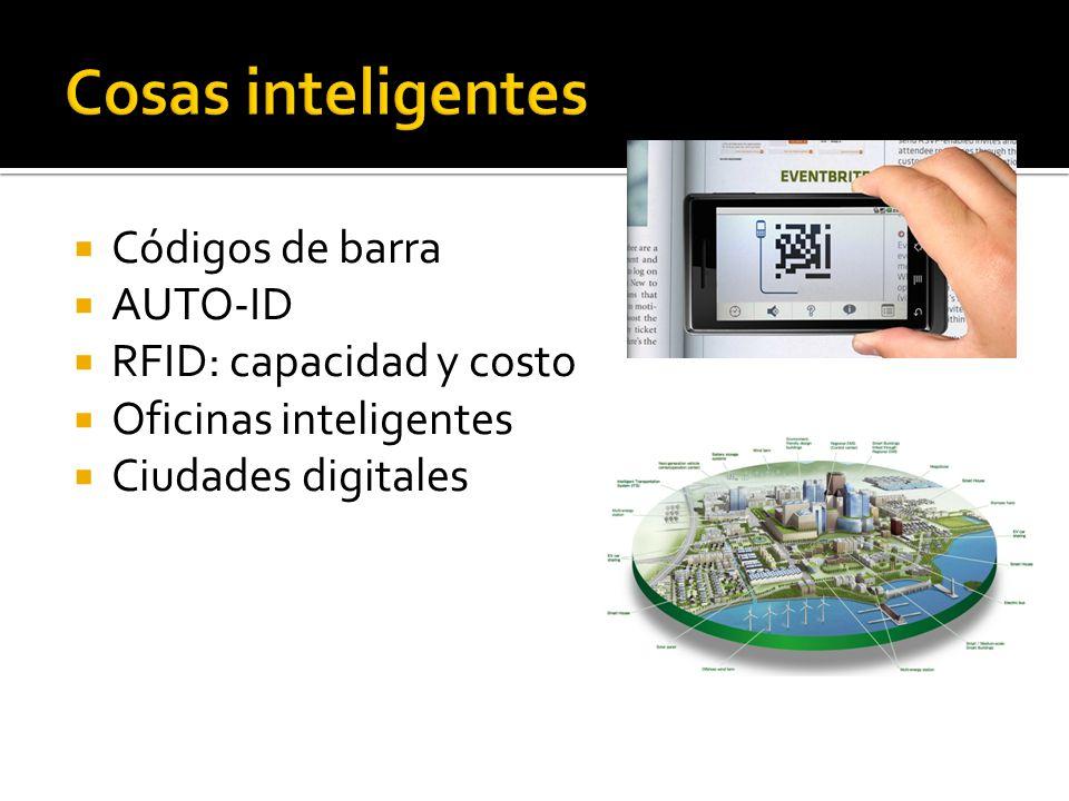 Cosas inteligentes Códigos de barra AUTO-ID RFID: capacidad y costo