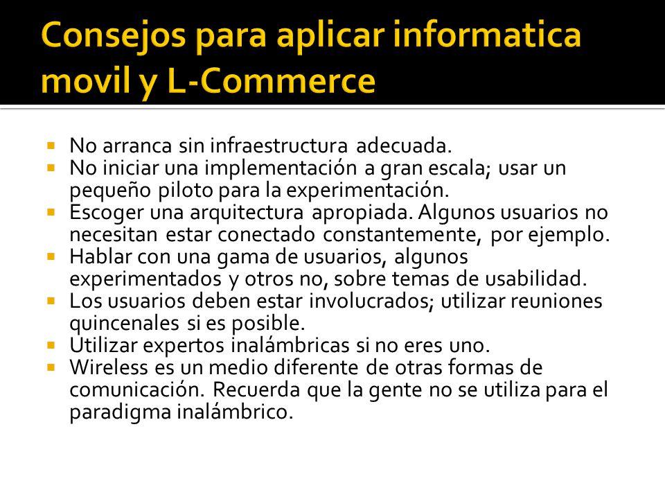 Consejos para aplicar informatica movil y L-Commerce