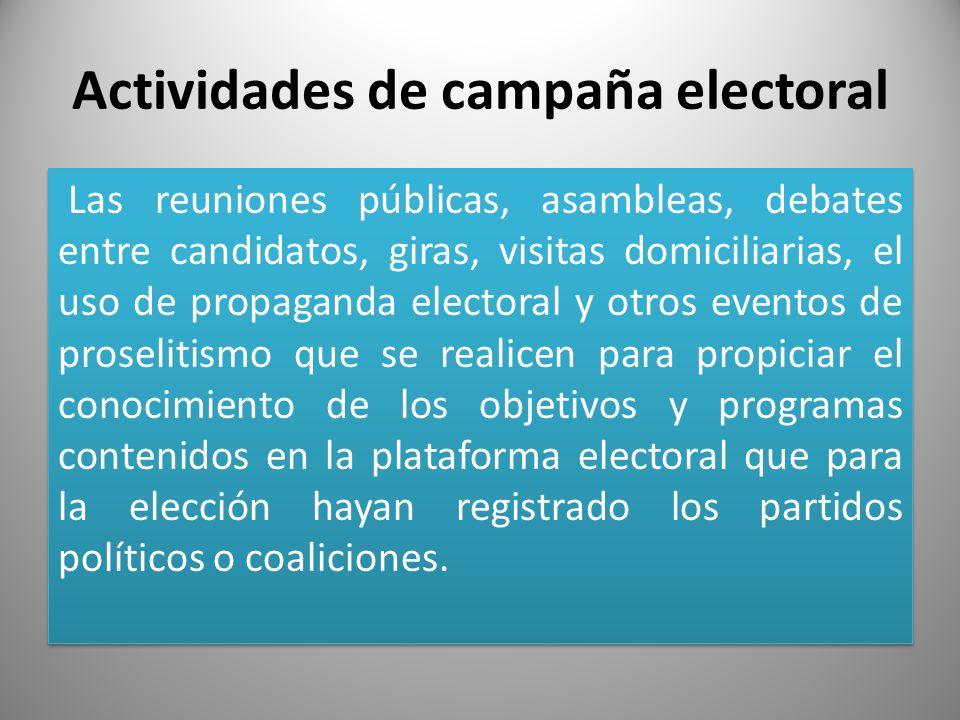 Actividades de campaña electoral