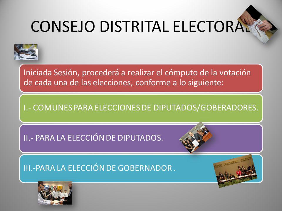CONSEJO DISTRITAL ELECTORAL