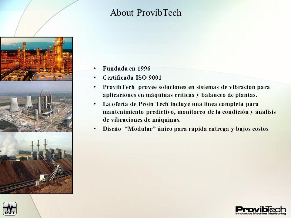 About ProvibTech Fundada en 1996 Certificada ISO 9001