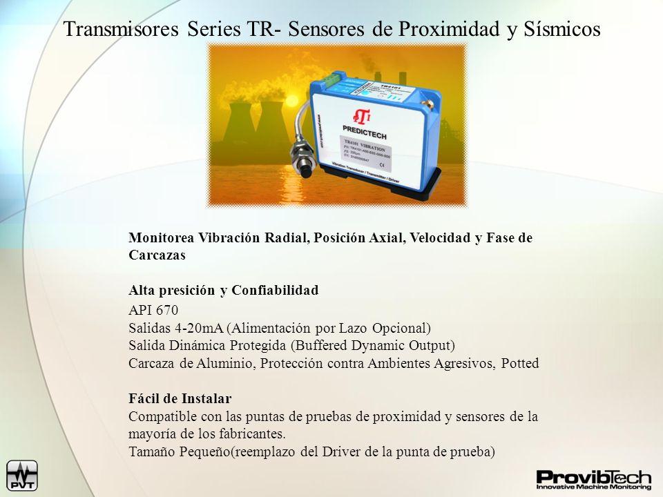 Transmisores Series TR- Sensores de Proximidad y Sísmicos