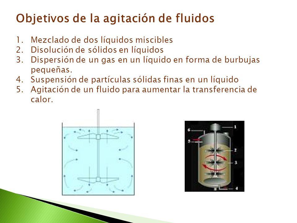 Objetivos de la agitación de fluidos