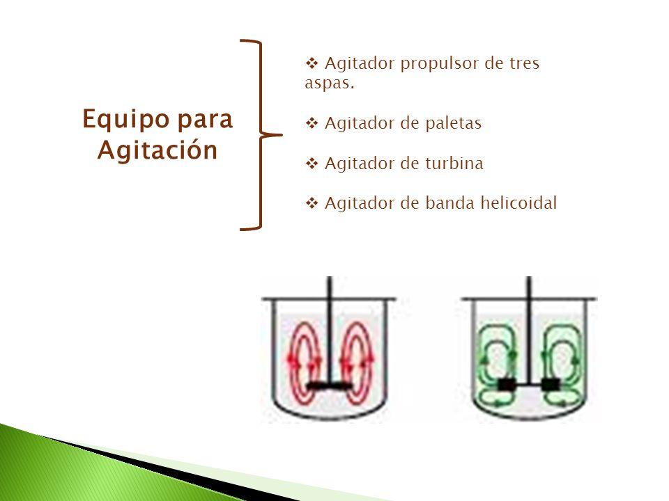 Equipo para Agitación Agitador propulsor de tres aspas.