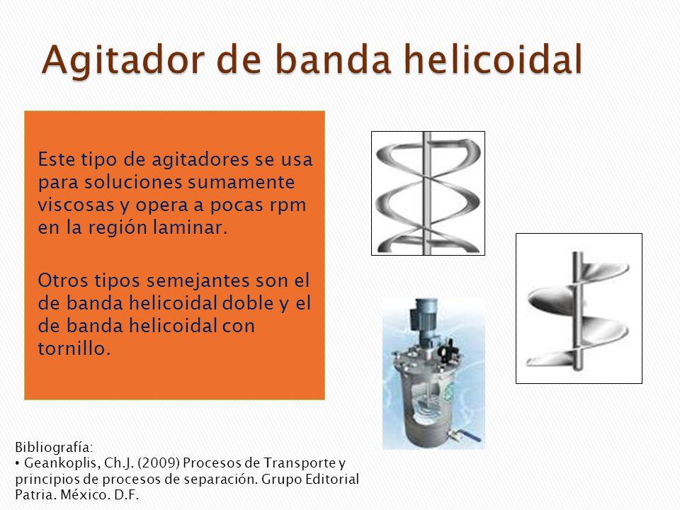 Agitador de banda helicoidal