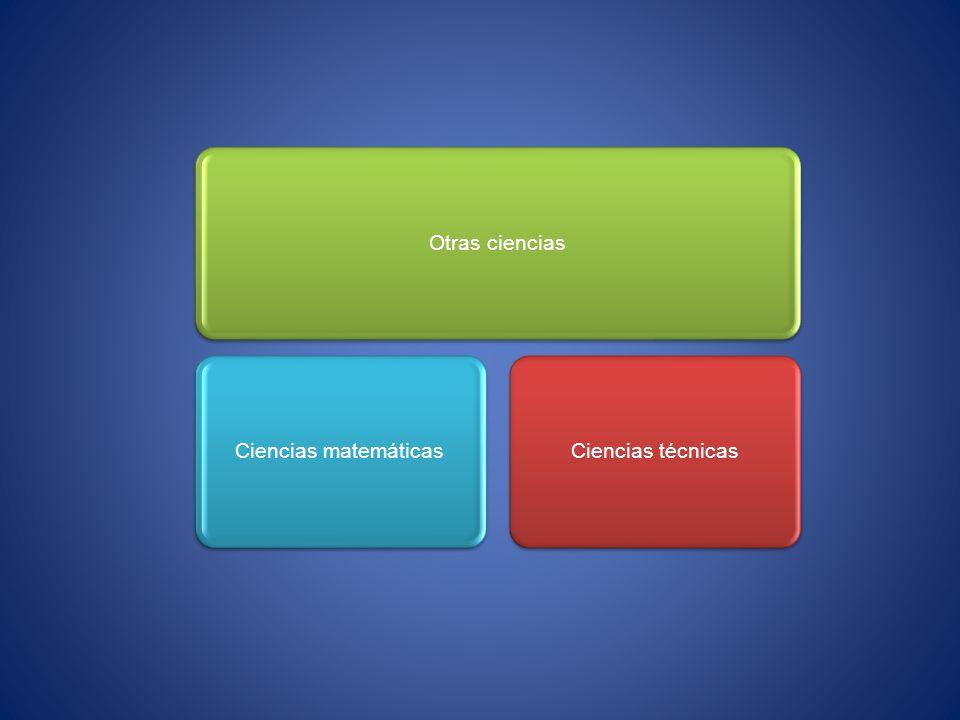 Otras ciencias Ciencias matemáticas Ciencias técnicas