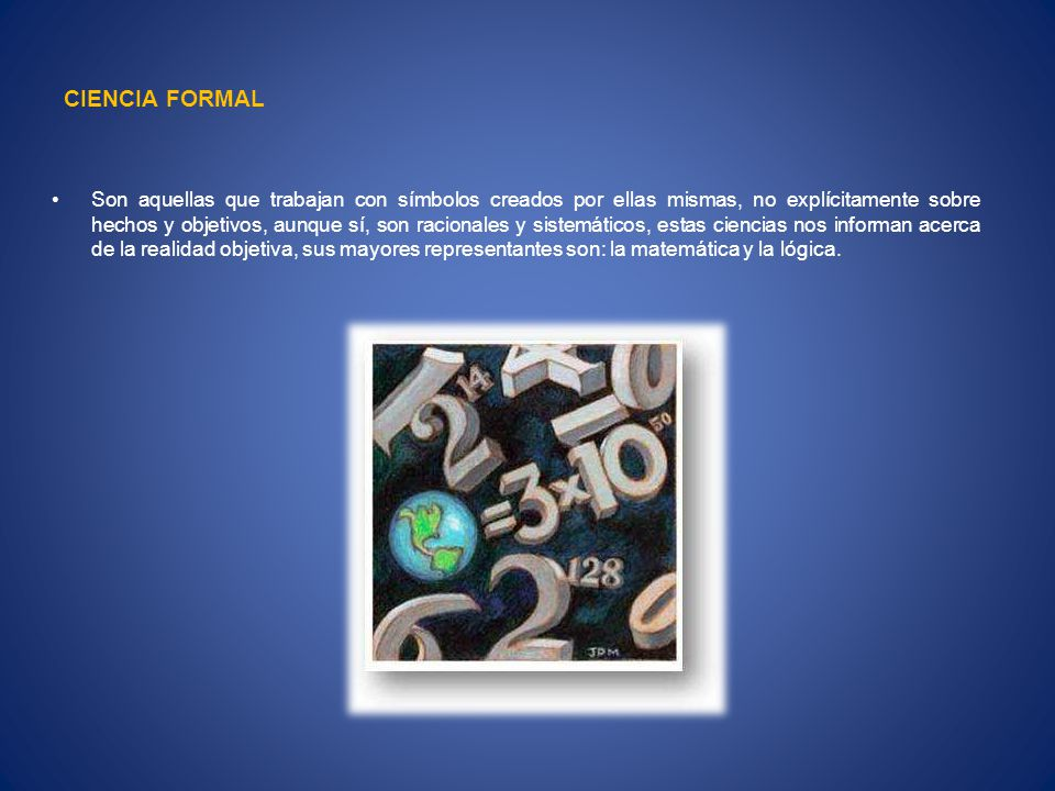 CIENCIA FORMAL