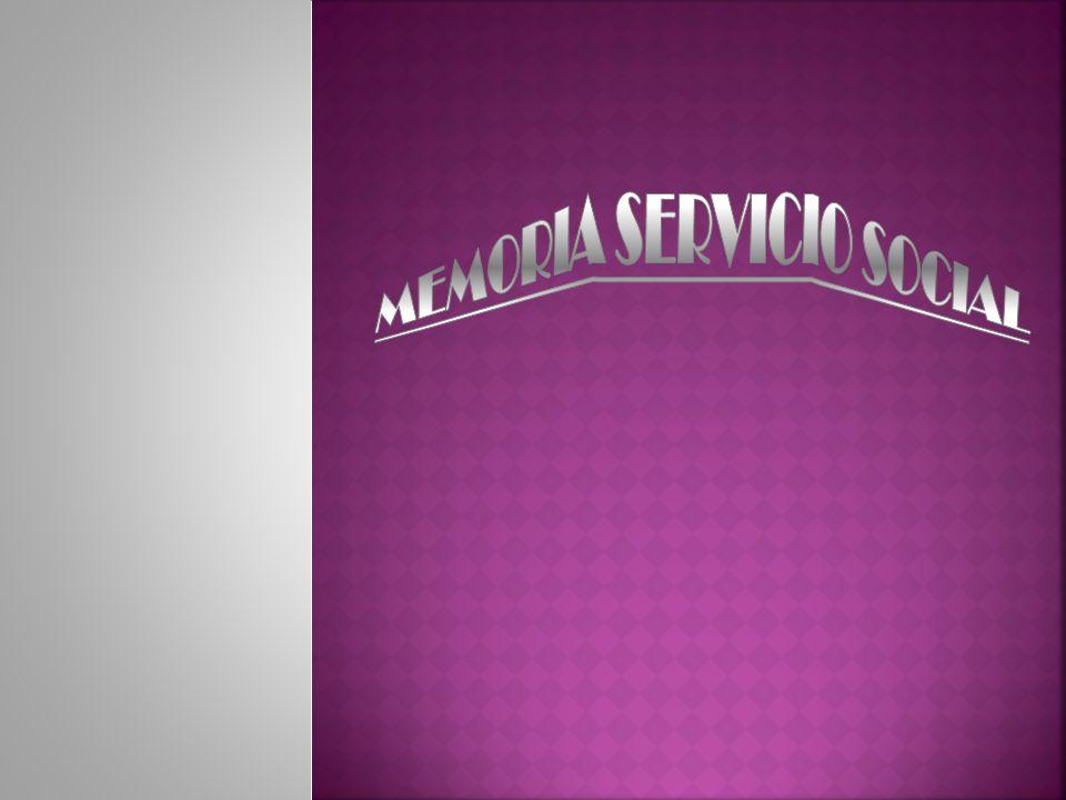 MEMORIA SERVICIO SOCIAL