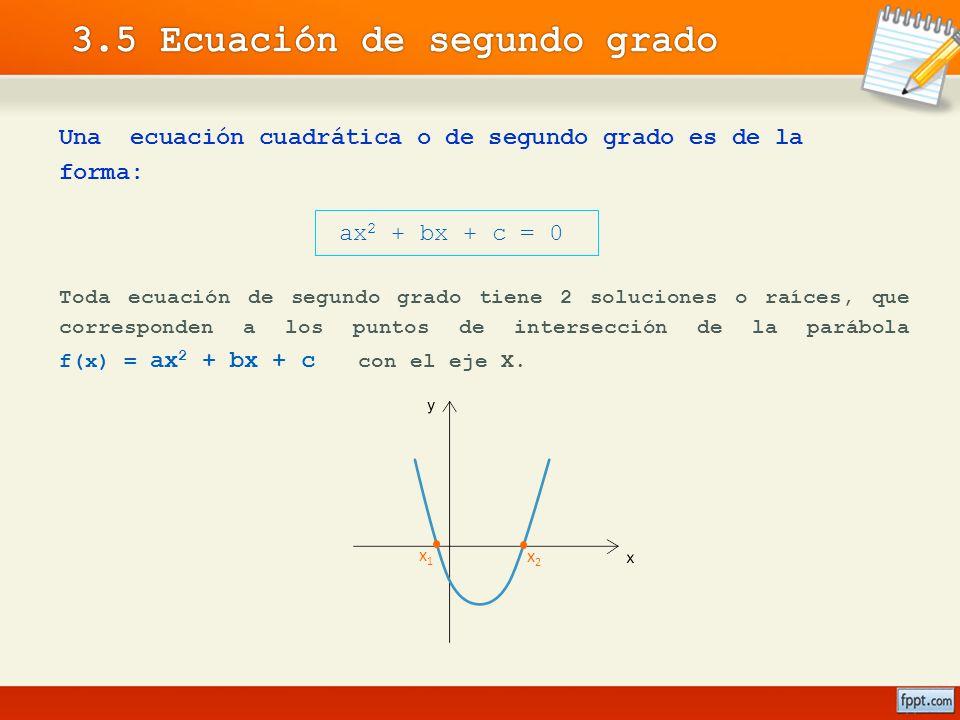 3.5 Ecuación de segundo grado