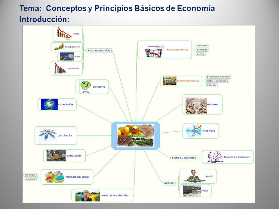 Tema: Conceptos y Principios Básicos de Economía