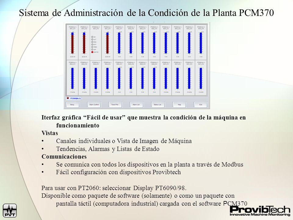 Sistema de Administración de la Condición de la Planta PCM370