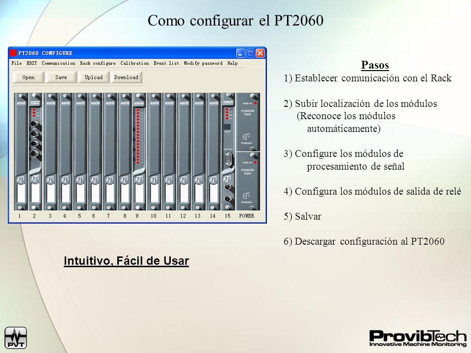 Como configurar el PT2060 Pasos Intuitivo, Fácil de Usar