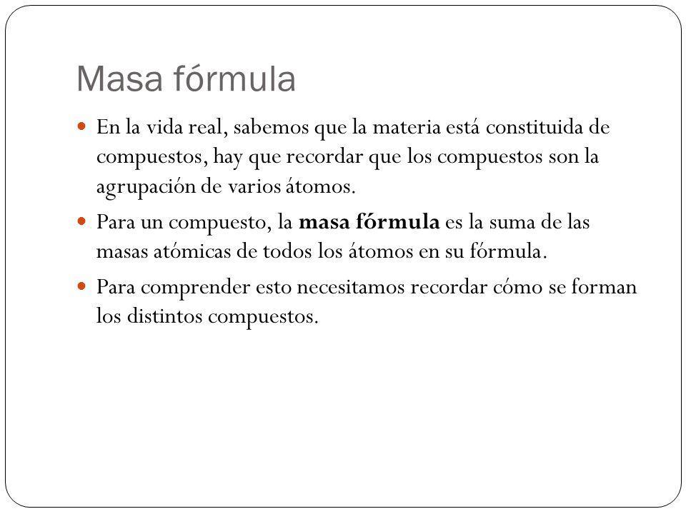 Masa fórmula