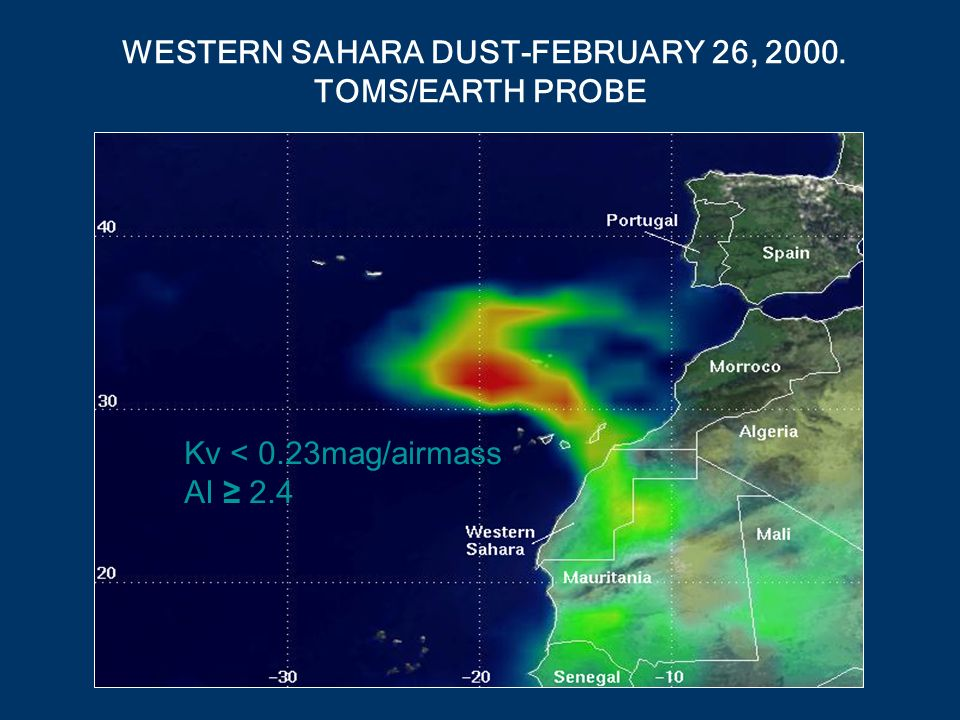 WESTERN SAHARA DUST-FEBRUARY 26, 2000. TOMS/EARTH PROBE