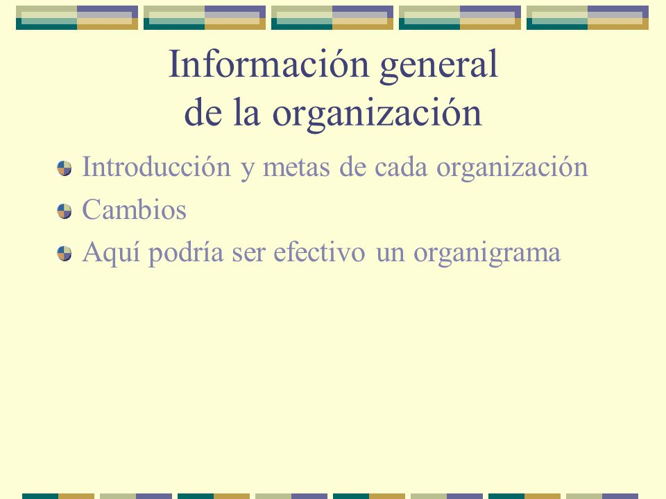 Información general de la organización
