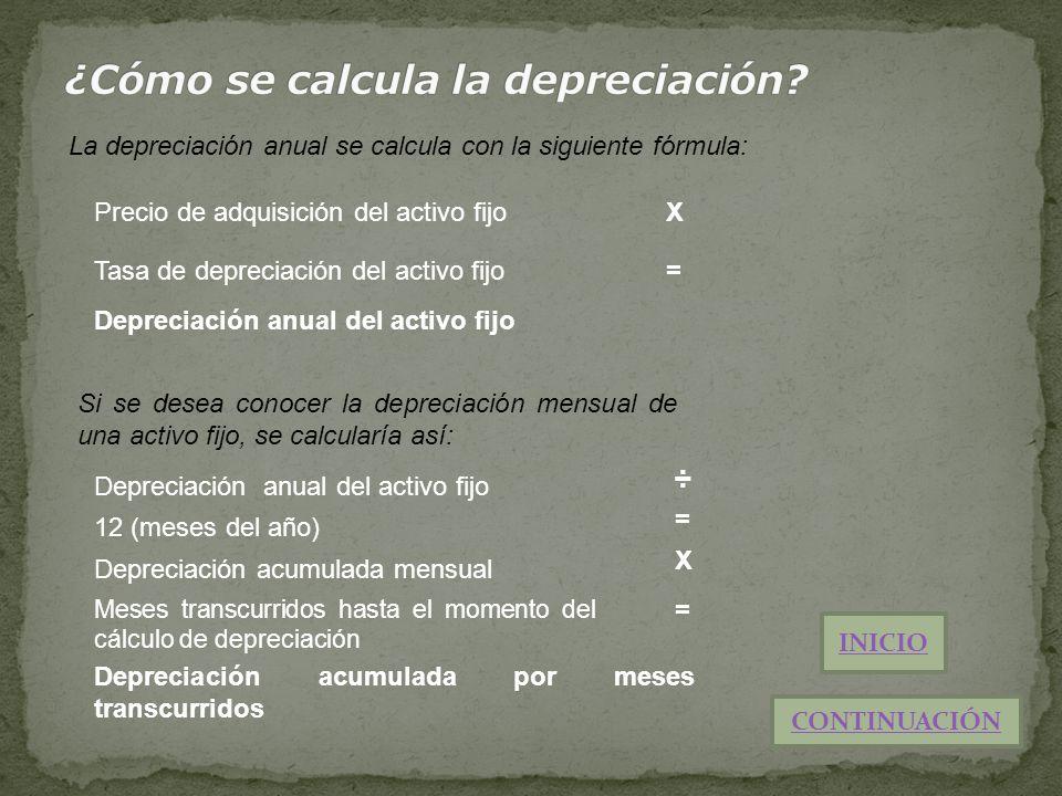 ¿Cómo se calcula la depreciación
