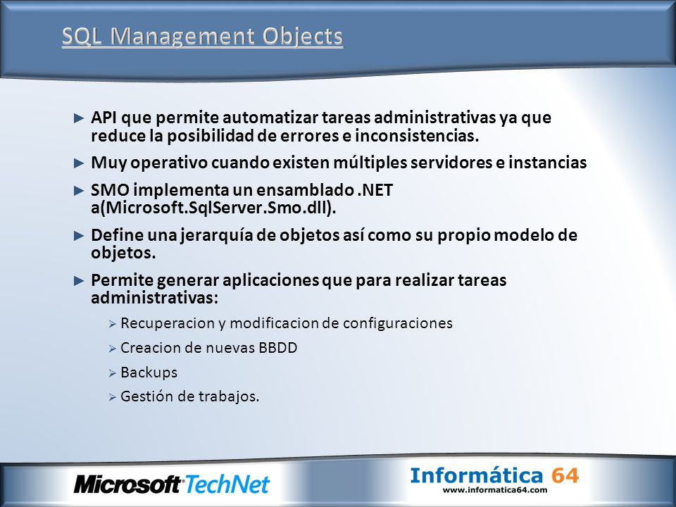 SQL Management Objects