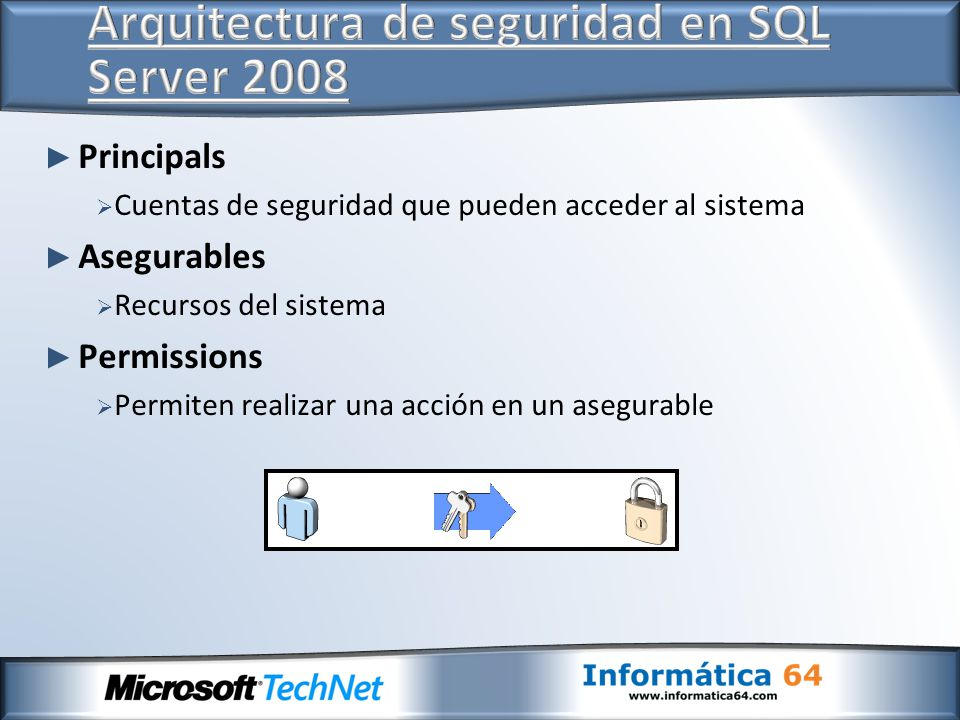 Arquitectura de seguridad en SQL Server 2008