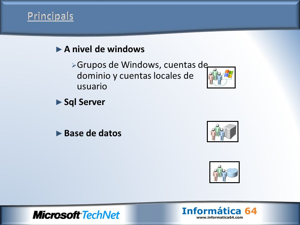 Principals A nivel de windows