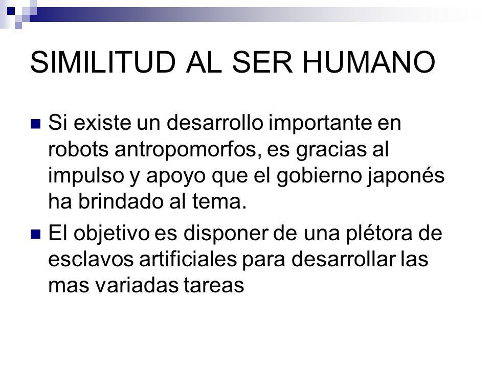 SIMILITUD AL SER HUMANO