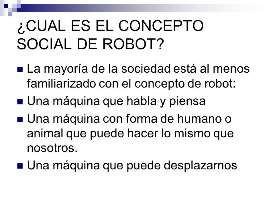 ¿CUAL ES EL CONCEPTO SOCIAL DE ROBOT