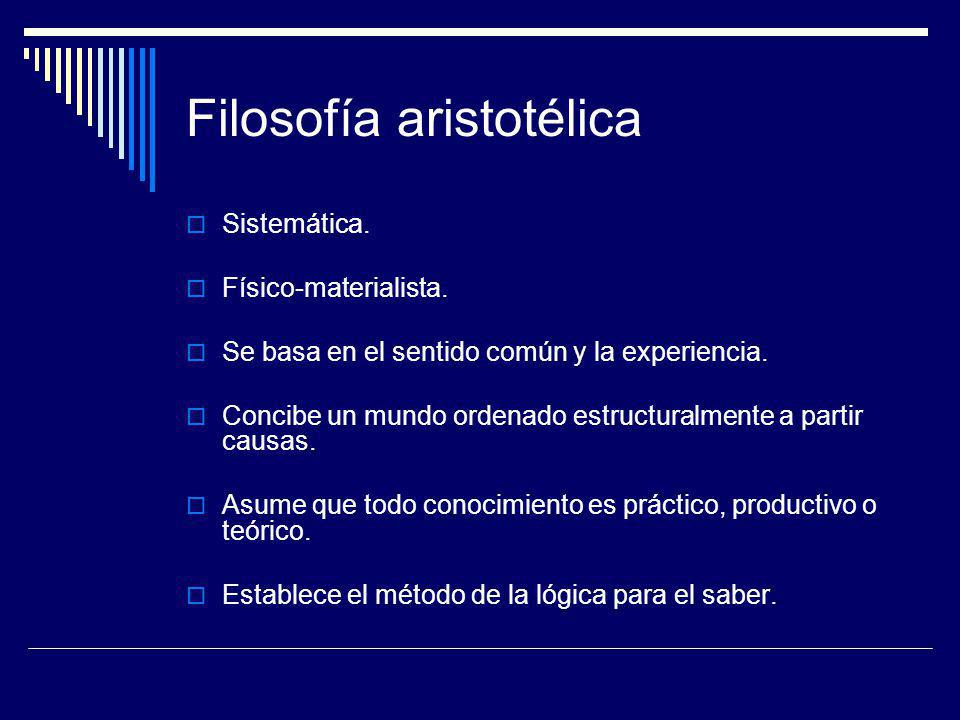 Filosofía aristotélica