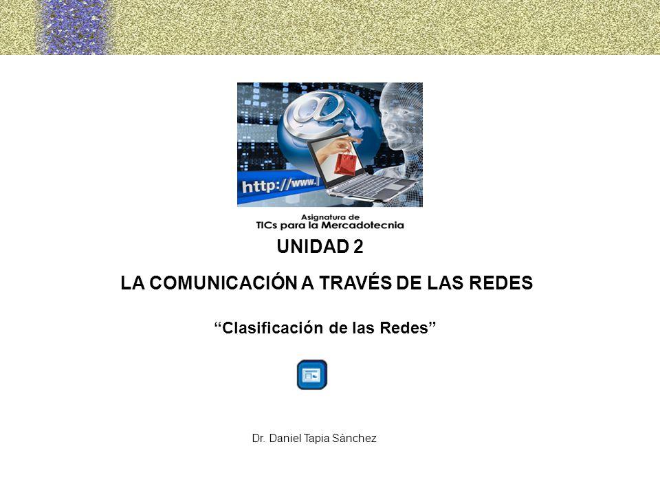 LA COMUNICACIÓN A TRAVÉS DE LAS REDES Clasificación de las Redes