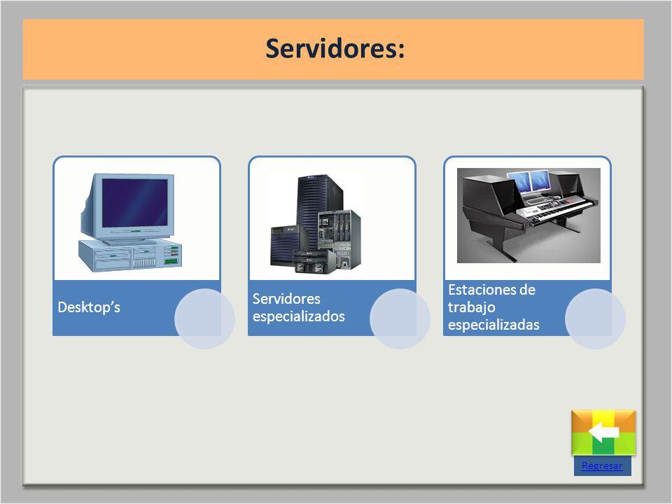 Servidores: Regresar Desktop's Servidores especializados