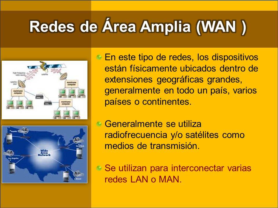 Redes de Área Amplia (WAN )