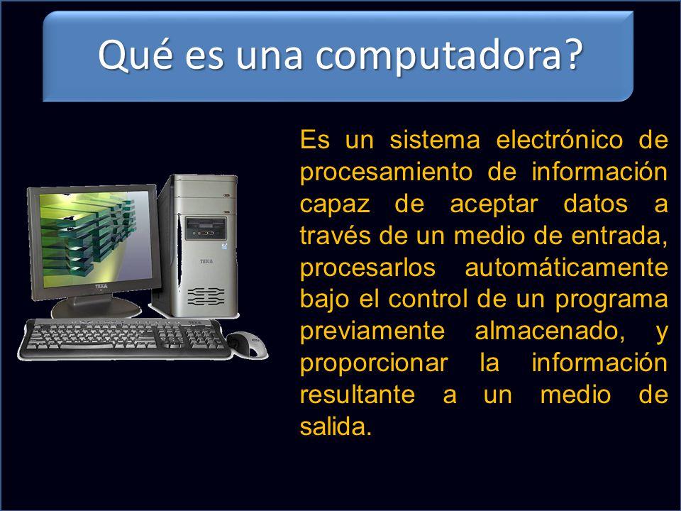Qué es una computadora