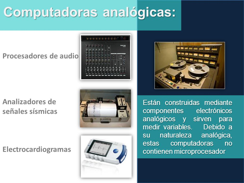 Computadoras analógicas: