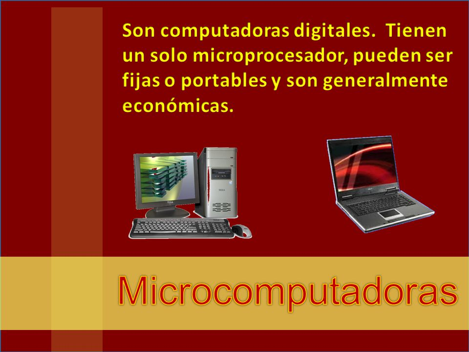 Son computadoras digitales