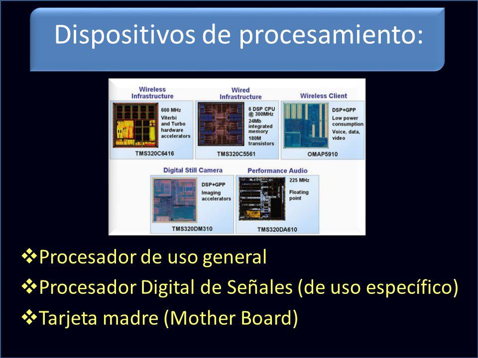 Dispositivos de procesamiento: