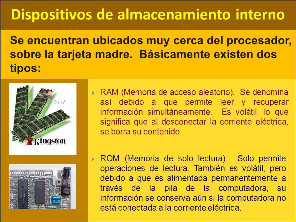 Dispositivos de almacenamiento interno