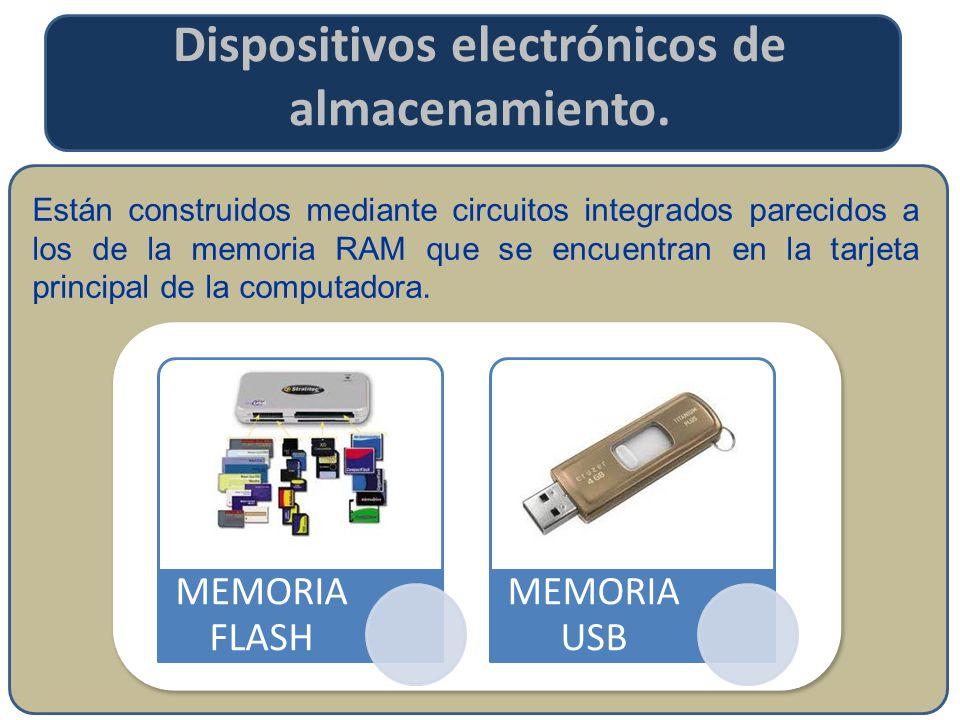 Dispositivos electrónicos de almacenamiento.
