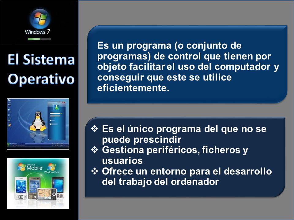 Es un programa (o conjunto de programas) de control que tienen por objeto facilitar el uso del computador y conseguir que este se utilice eficientemente.