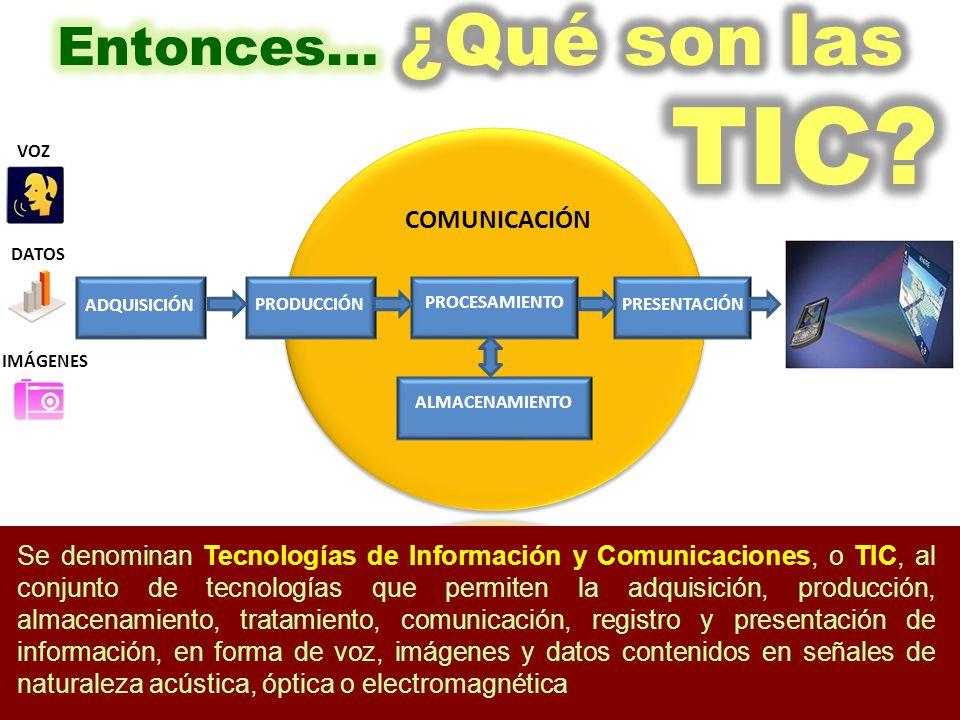 Entonces… ¿Qué son las TIC
