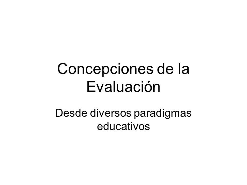 Concepciones de la Evaluación