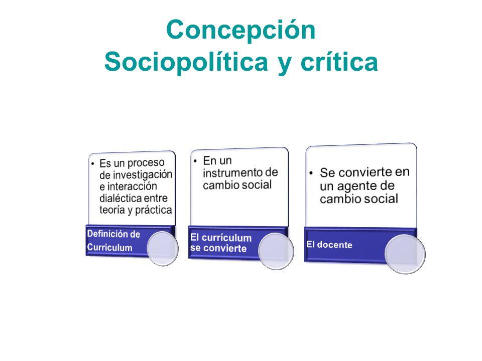 Concepción Sociopolítica y crítica