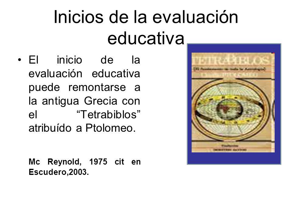 Inicios de la evaluación educativa