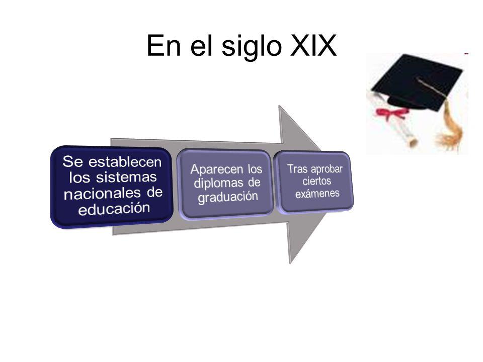 En el siglo XIX Se establecen los sistemas nacionales de educación