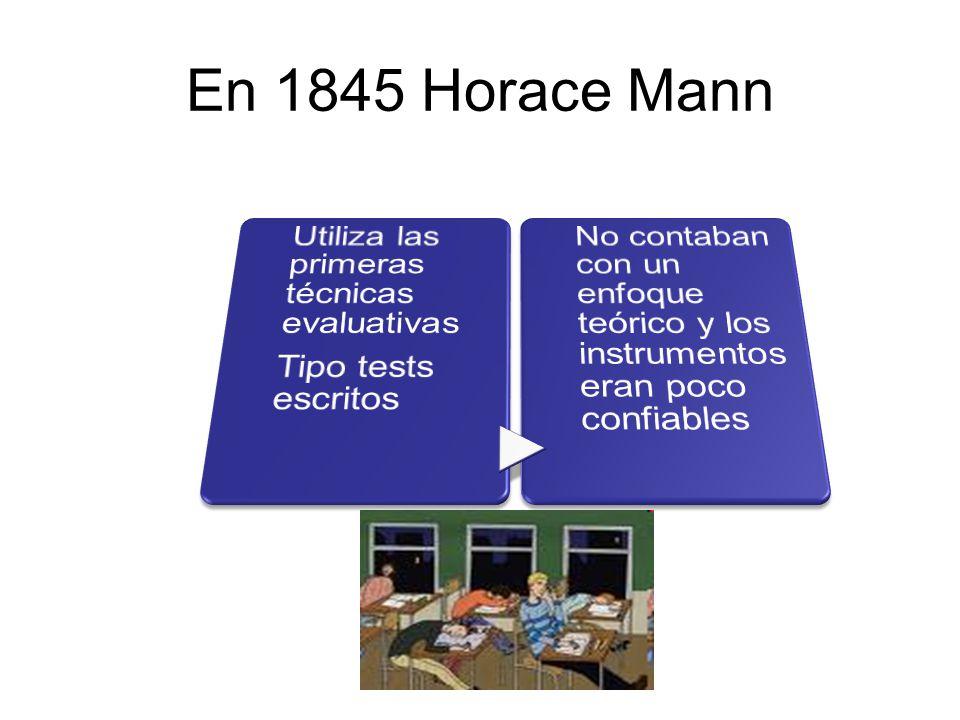 En 1845 Horace Mann Tipo tests escritos